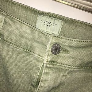 Celebrity Pink Army Green Short Shorts Size